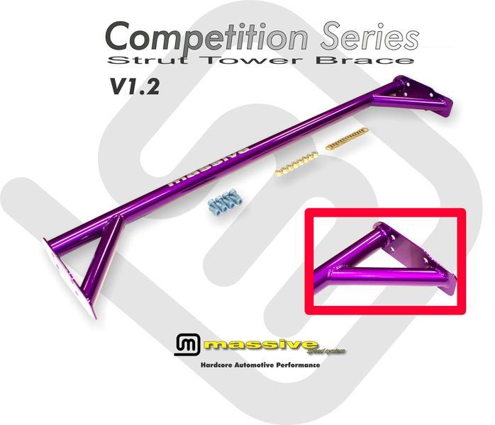 Massive Race Strut Shock Tower Brace Stress Bar Focus Duratec 2003-2007 2.0 2.3