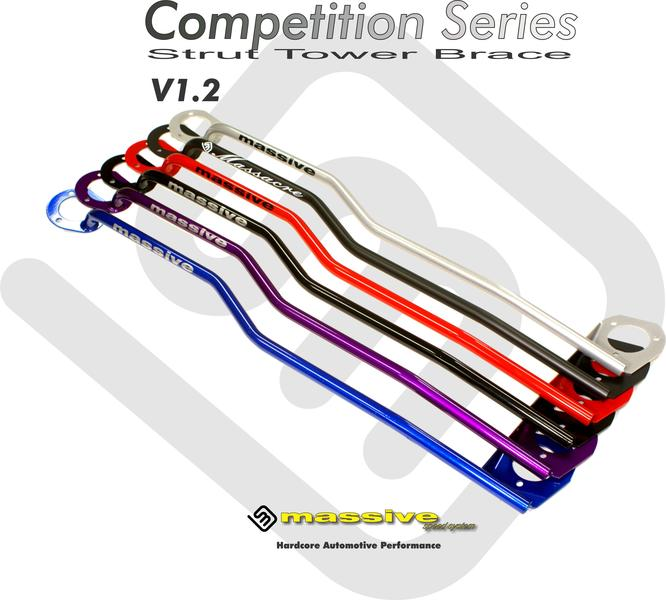 Massive Strut Tower Brace Front Stress Bar 00-04 Focus Zetec SPI SVT 2.0 Race RD